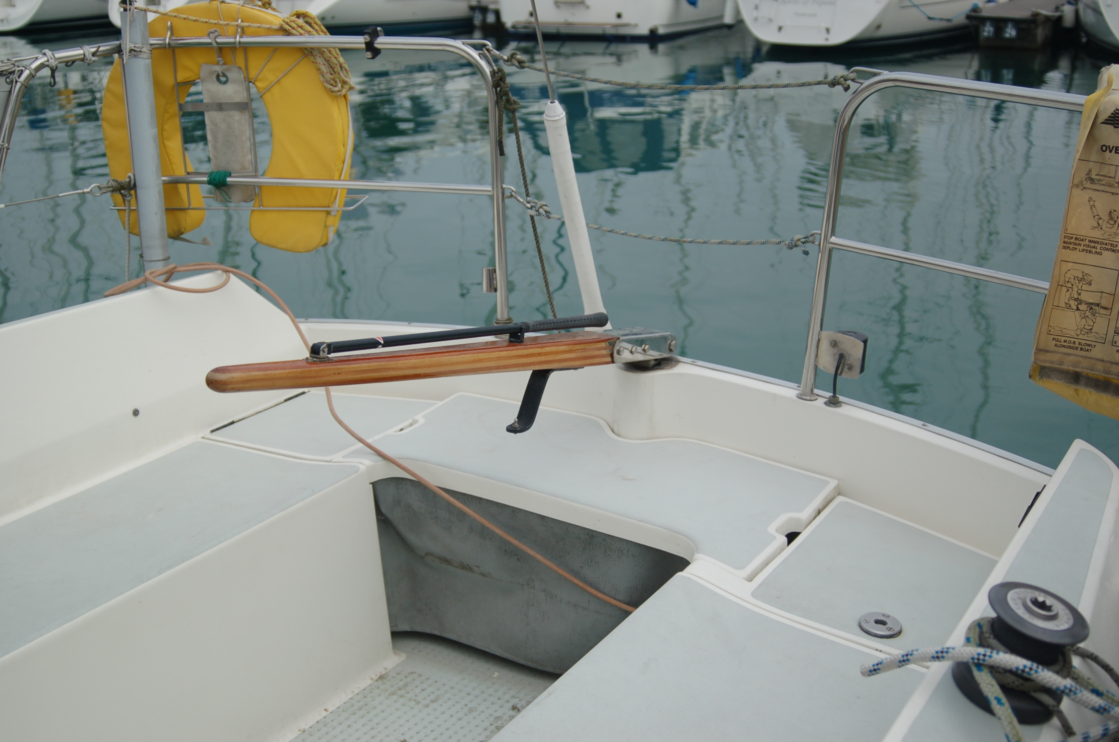 Yacht steering conversion before