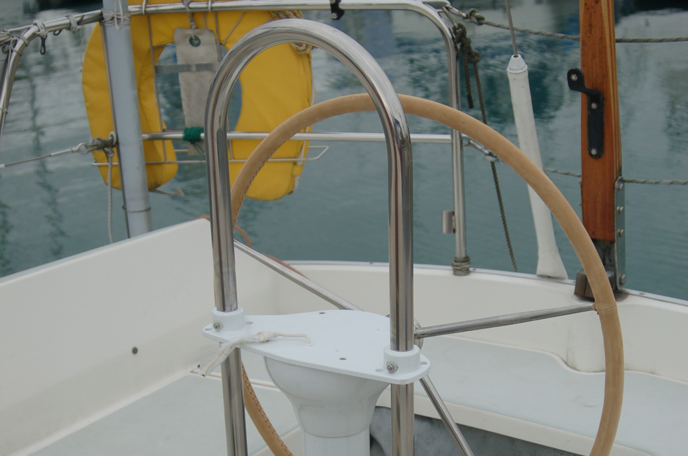 Yacht steering conversion after